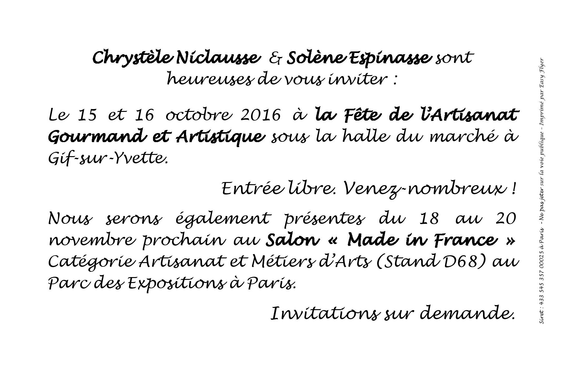 F te artisanat gourmand et artistique 91 for Mif expo le salon du made in france 10 novembre